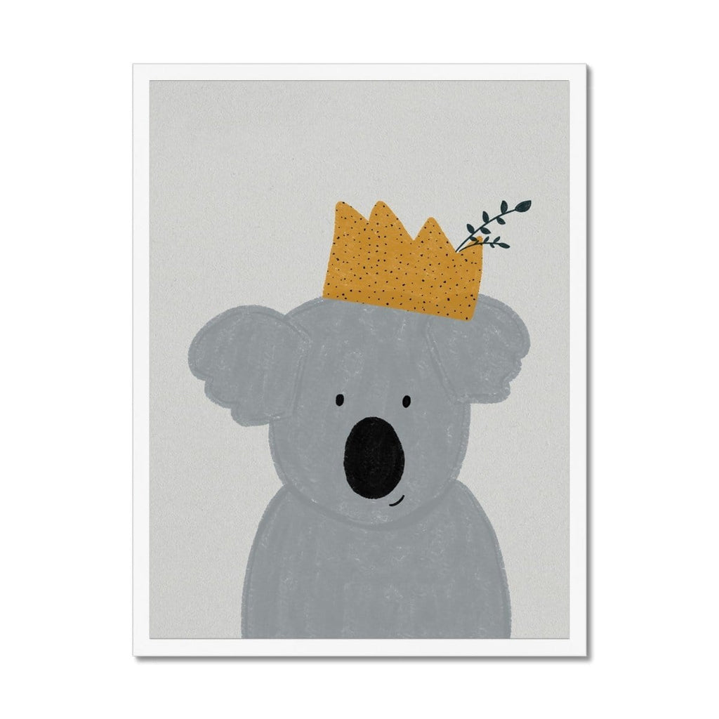 King Koala - Kids Animal Art |  Framed Print