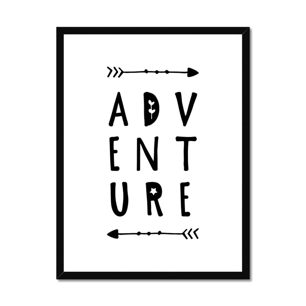 Adventure Quote |  Framed Print