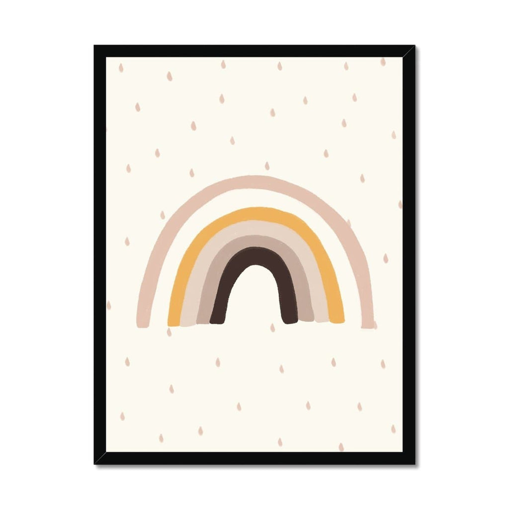 Rainbow Wall Art - Muted Colours |  Framed Print