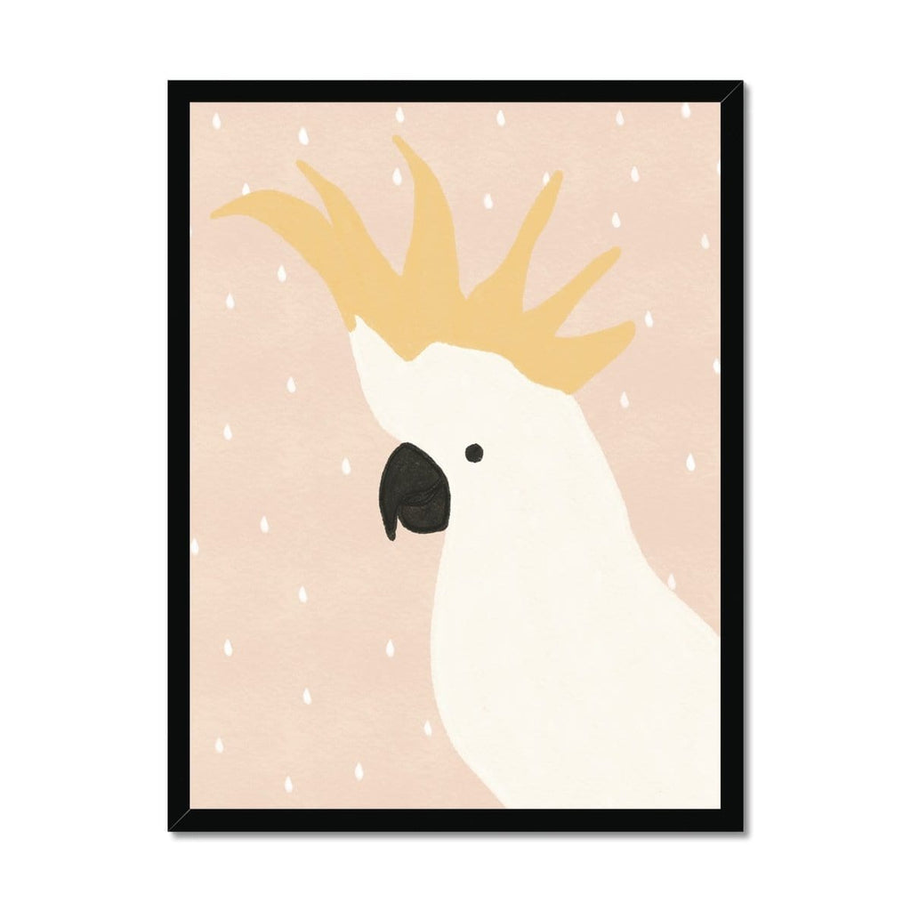Cockatoo Art - Pink |  Framed Print