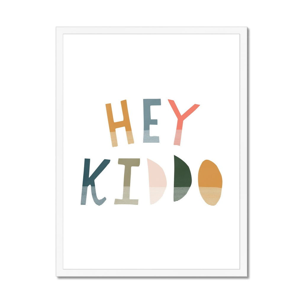 Hey Kiddo - Space |  Framed Print