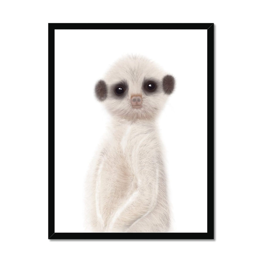 Meerkat - Funny Animal Art |  Framed Print