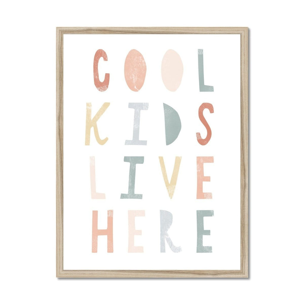 Cool Kids Live Here - Subtle |  Framed Print
