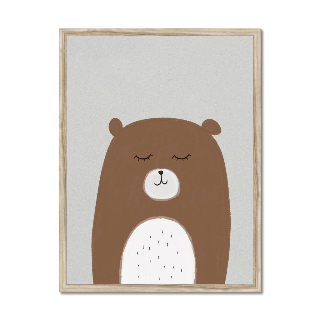 Sleepy Bear |  Framed Print