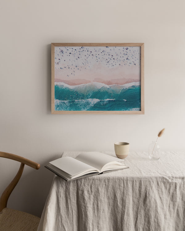 Aerial Beach View - Watercolour |  Framed Print