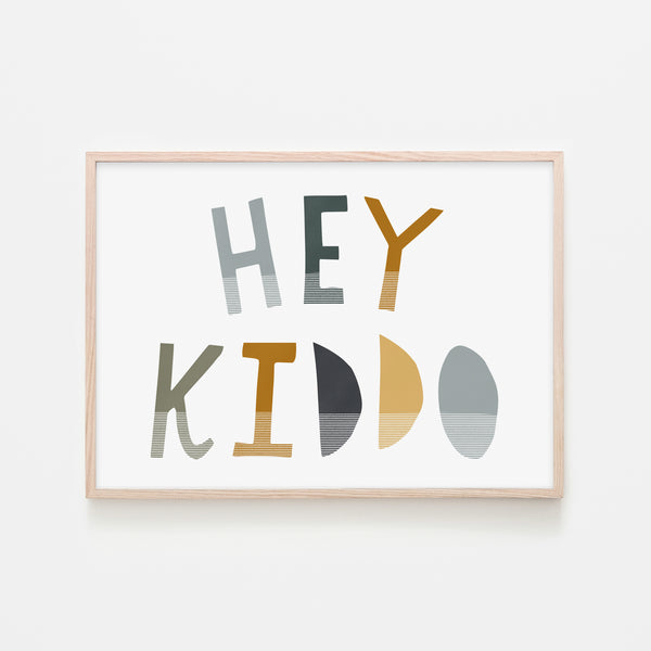 Hey Kiddo - Jungle (Landscape) |  Framed Print