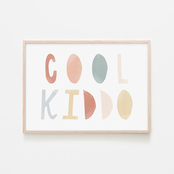 Cool Kiddo - Subtle |  Framed Print