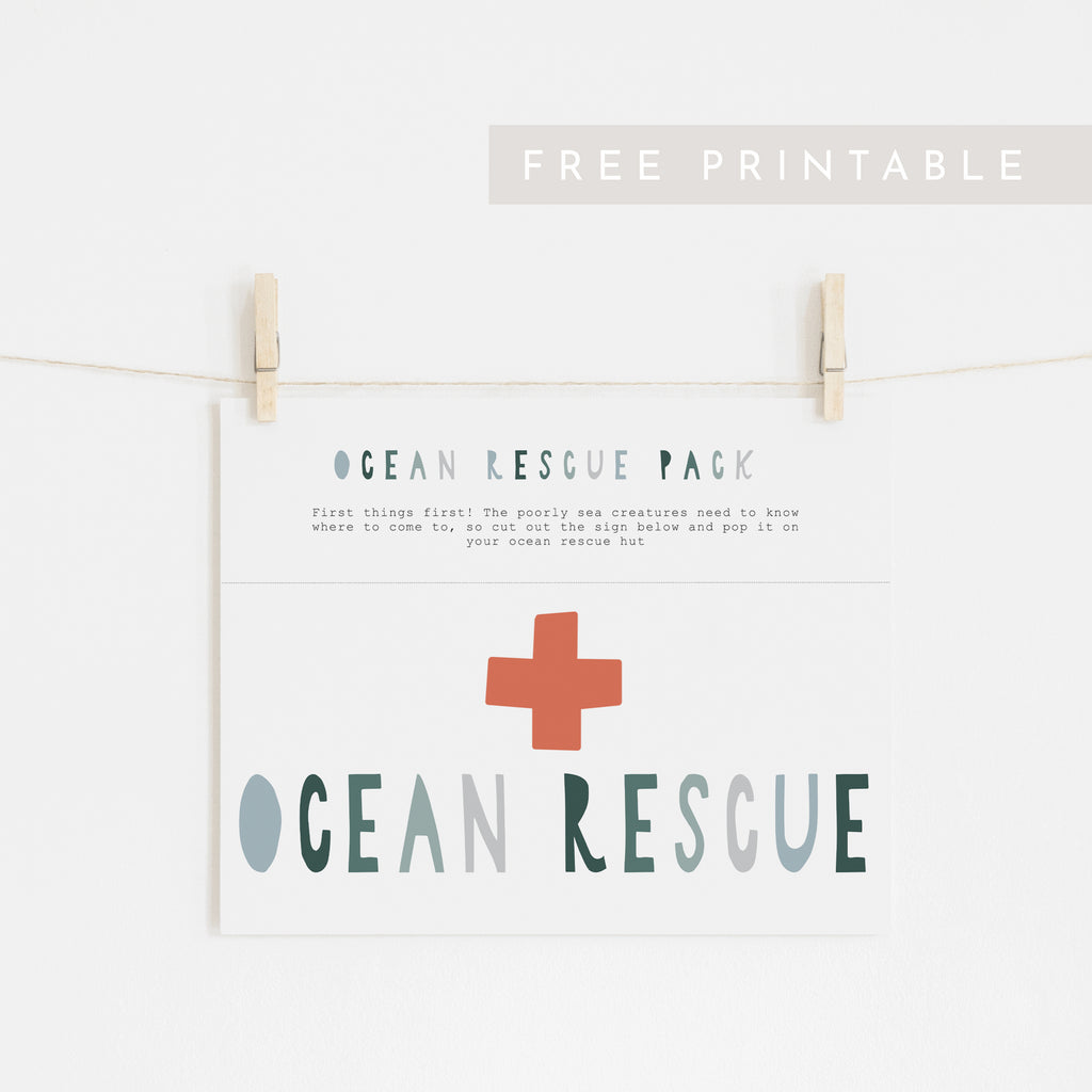 Ocean Rescue Sign - FREE Printable