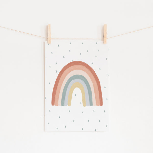 Rainbow Wall Art - Subtle Colours |  Unframed