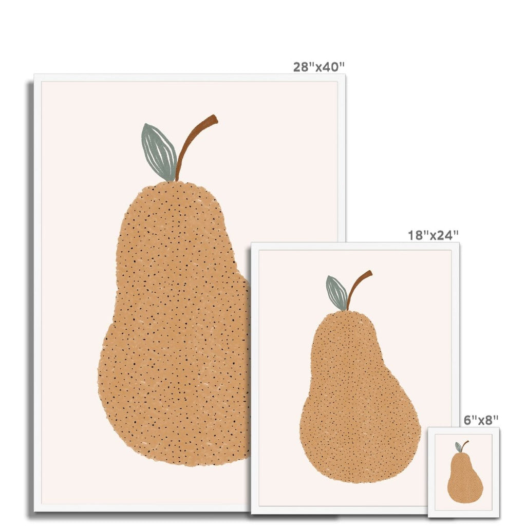 Pear Nursery Wall Art |  Framed Print