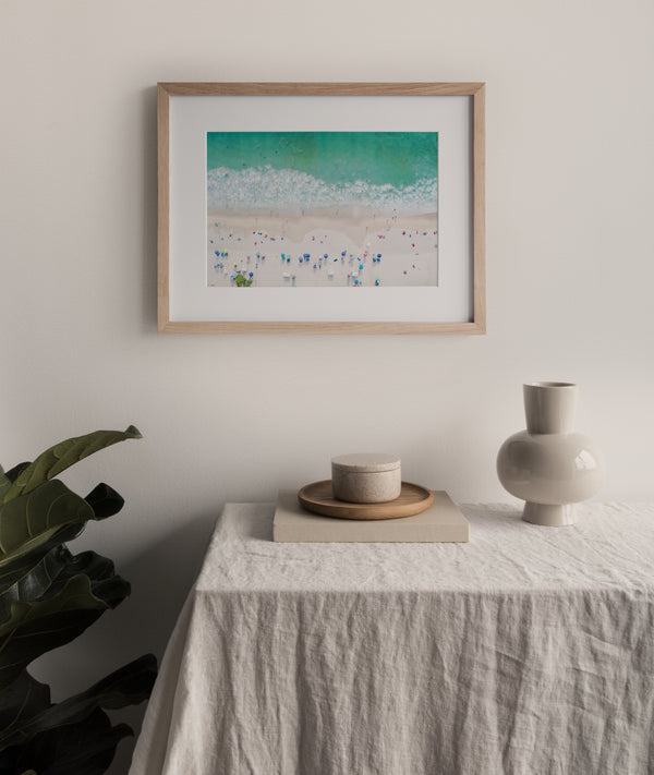 Aerial Beach Photography |  Framed & Mounted Print