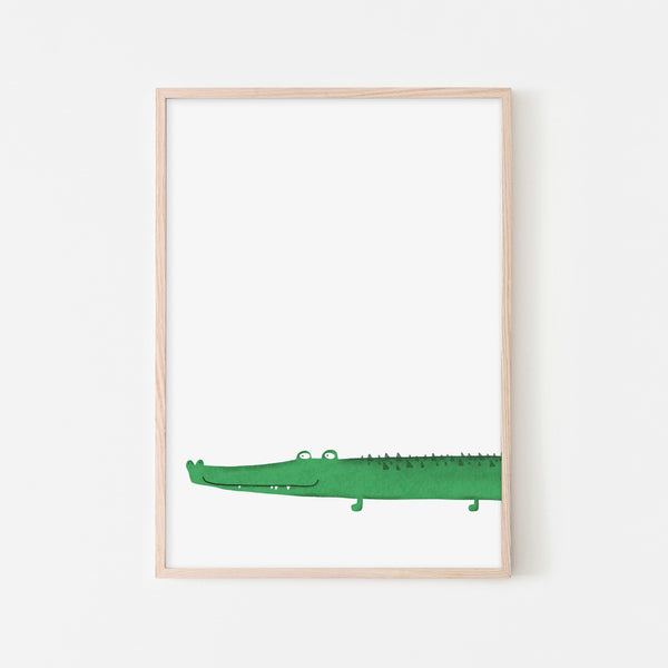 Crocodile Kids Wall Art |  Framed Print