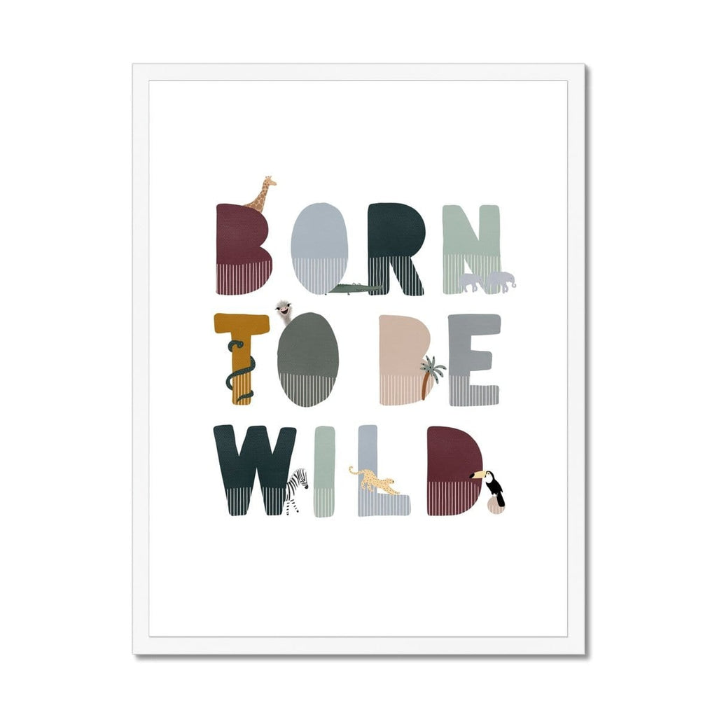 Born To Be Wild Print - Woodland Illustrated |  Framed Print