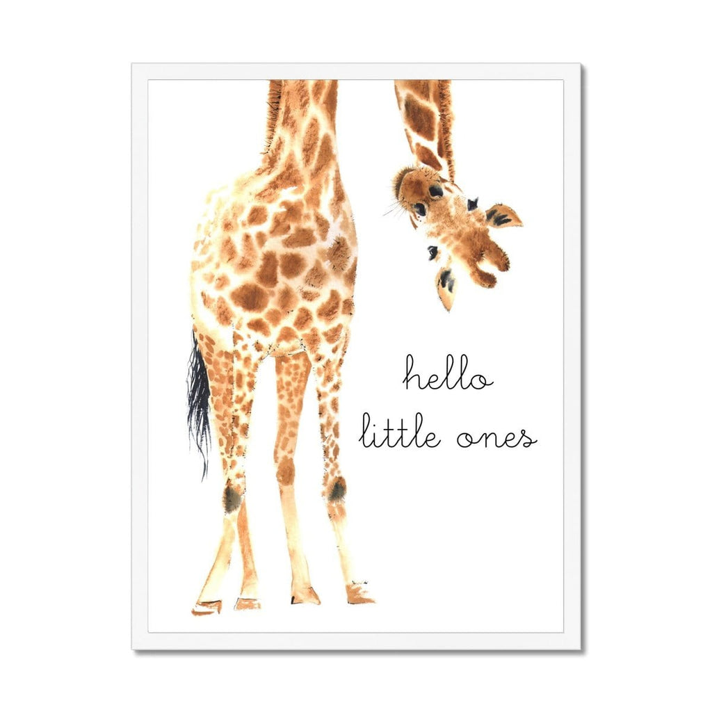 Twins - Hello Little One Giraffe |  Framed Print