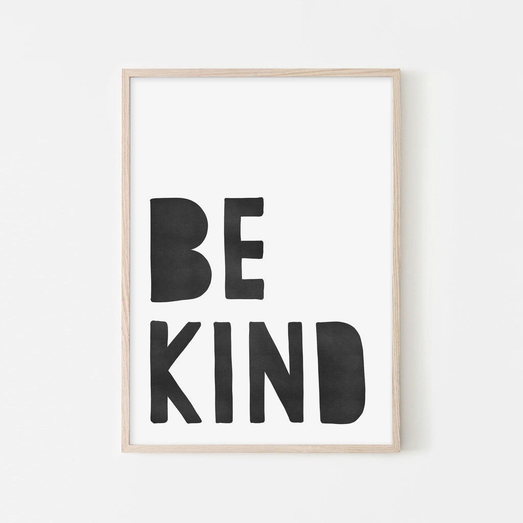 Be Kind Print - Black |  Framed