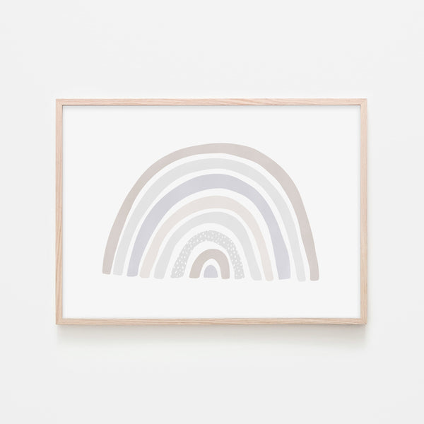 Scandi Rainbow - Natural |  Framed Print