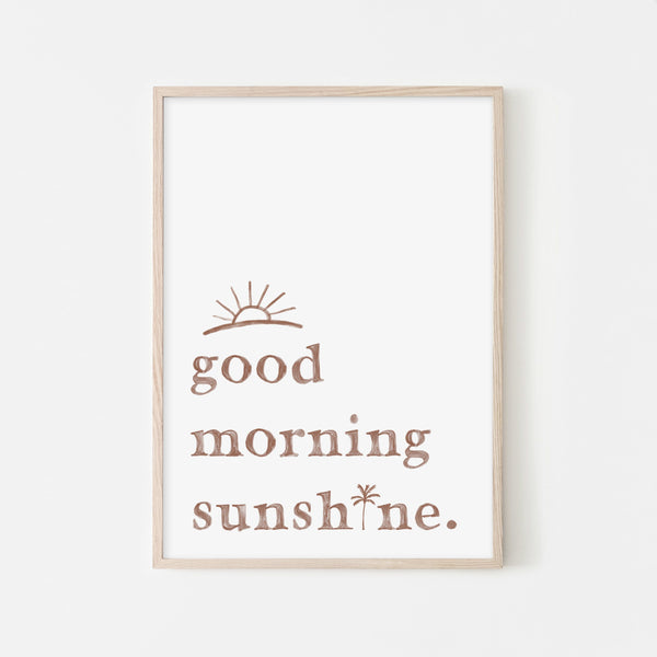 Good Morning Sunshine - White |  Framed Print