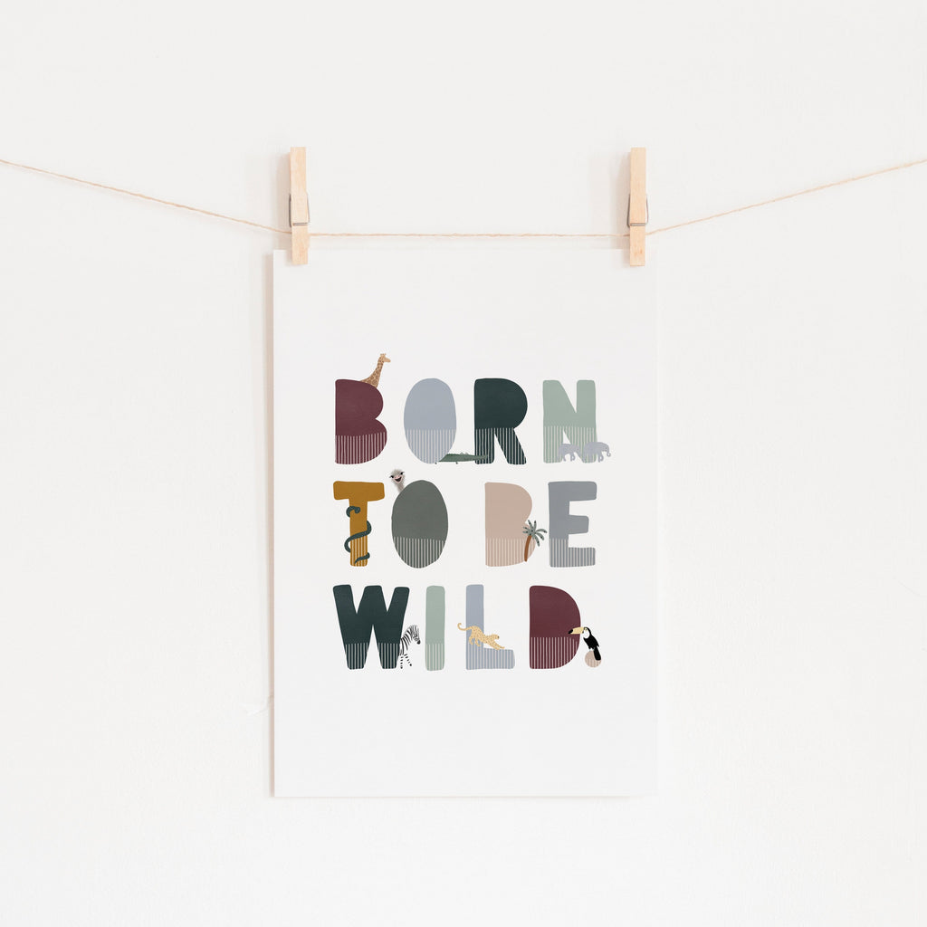 Born To Be Wild Print - Woodland Illustrated |  Fine Art Print