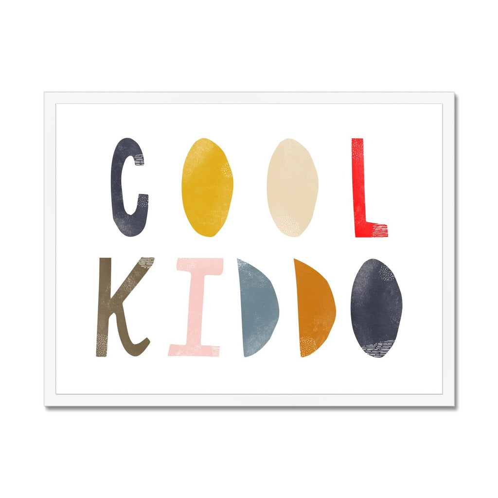 Cool Kiddo - Muted Rainbow |  Framed Print