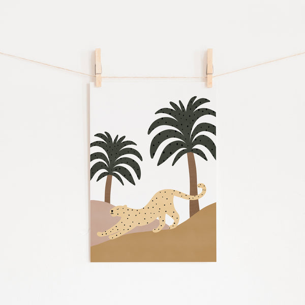 Leopard & Palms |  Unframed