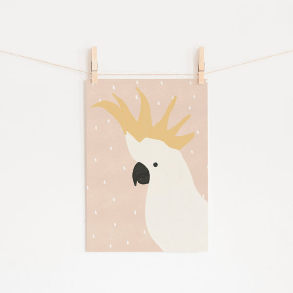 Cockatoo Art - Pink | Unframed