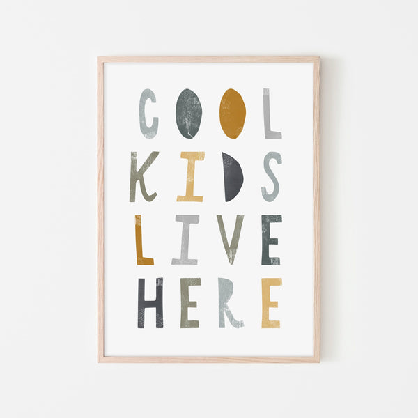 Cool Kids Live Here - Jungle |  Framed Print