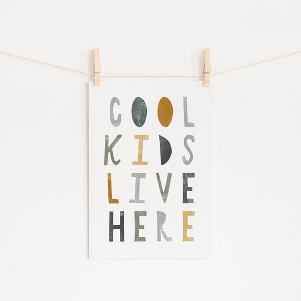 Cool Kids Live Here - Jungle |  Fine Art Print