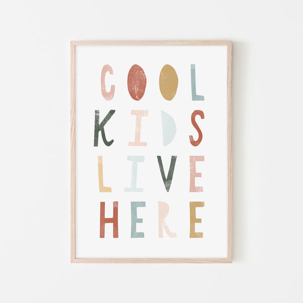 Cool Kids Live Here - Autumn |  Framed Print