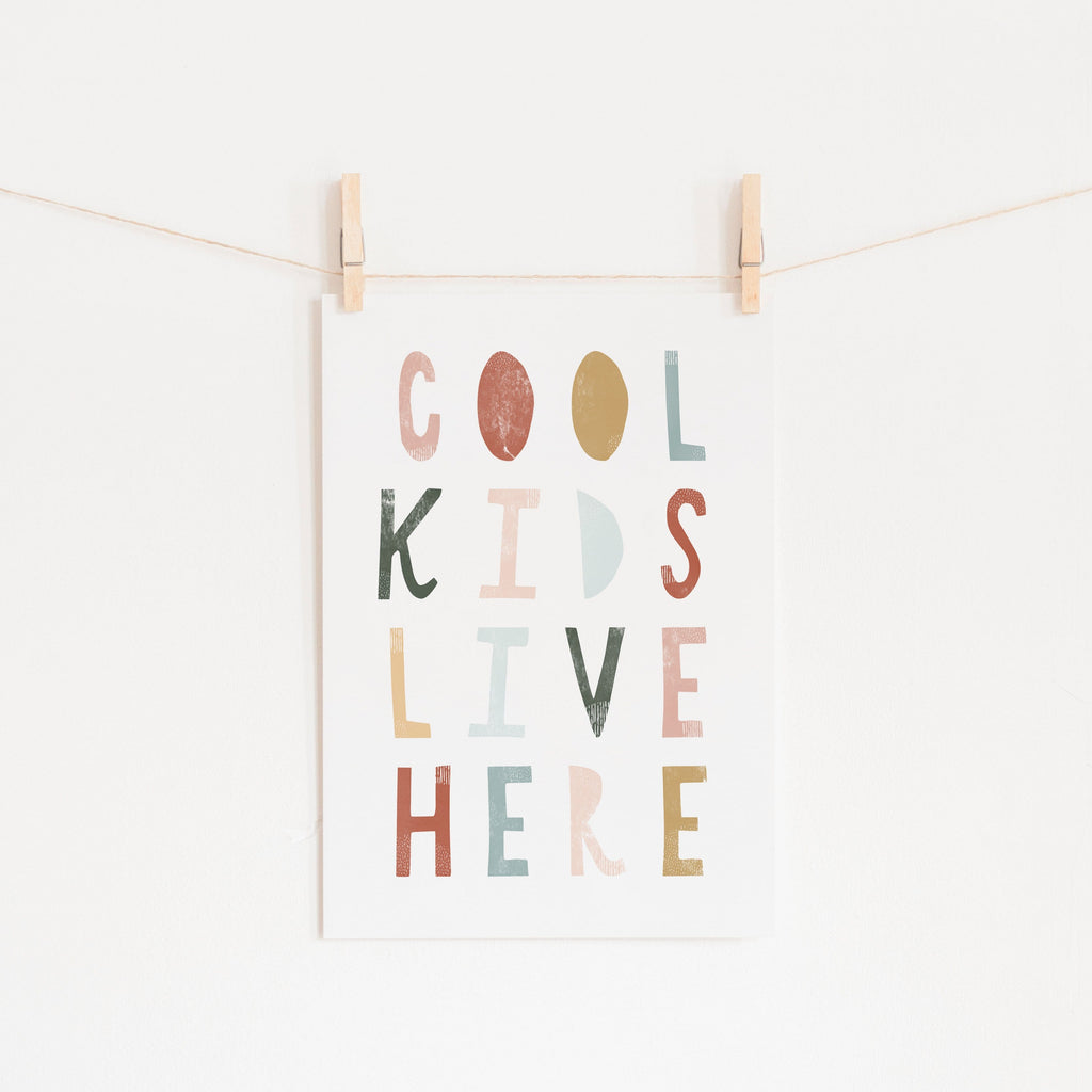 Cool Kids Live Here - Autumn |  Fine Art Print