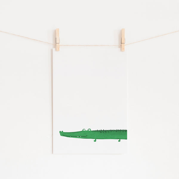 Crocodile Kids Wall Art |  Unframed