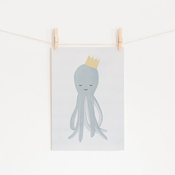 Octopus - Crown |  Unframed