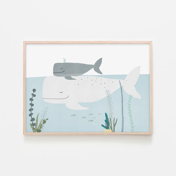 Big Whale, Little Whale |  Framed Print