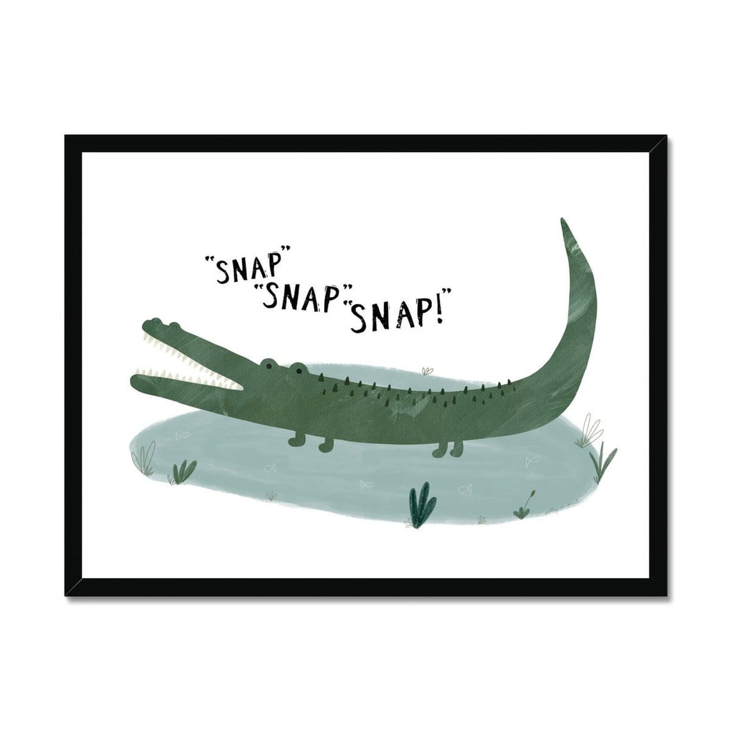 Crocodile - Snap, Snap, Snap! |  Framed Print