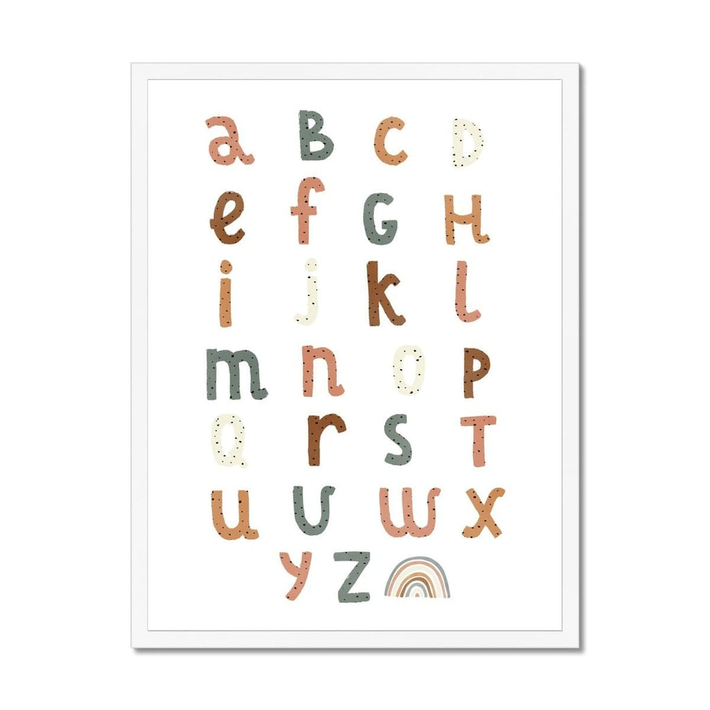 Alphabet Chart Watermelon Colours |  Framed Print