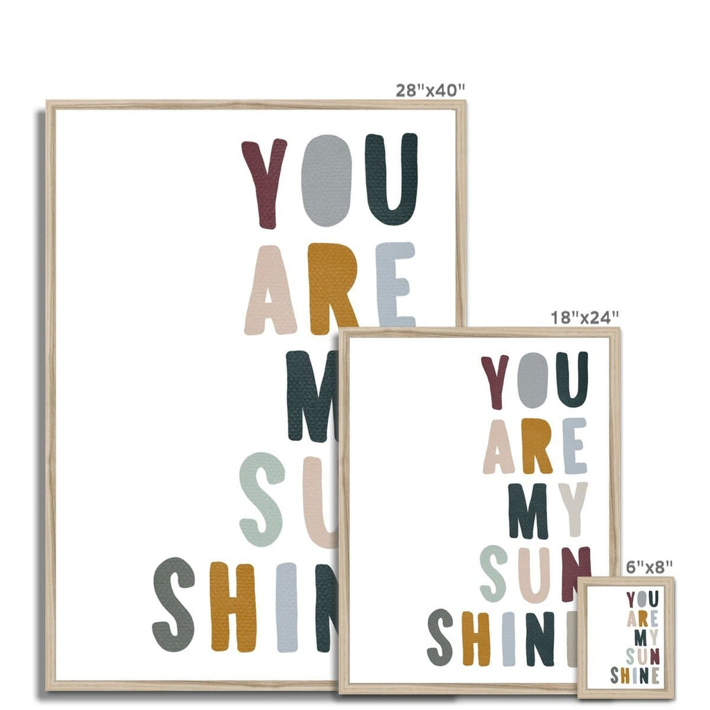 You Are My Sunshine - Woodland |  Framed Print