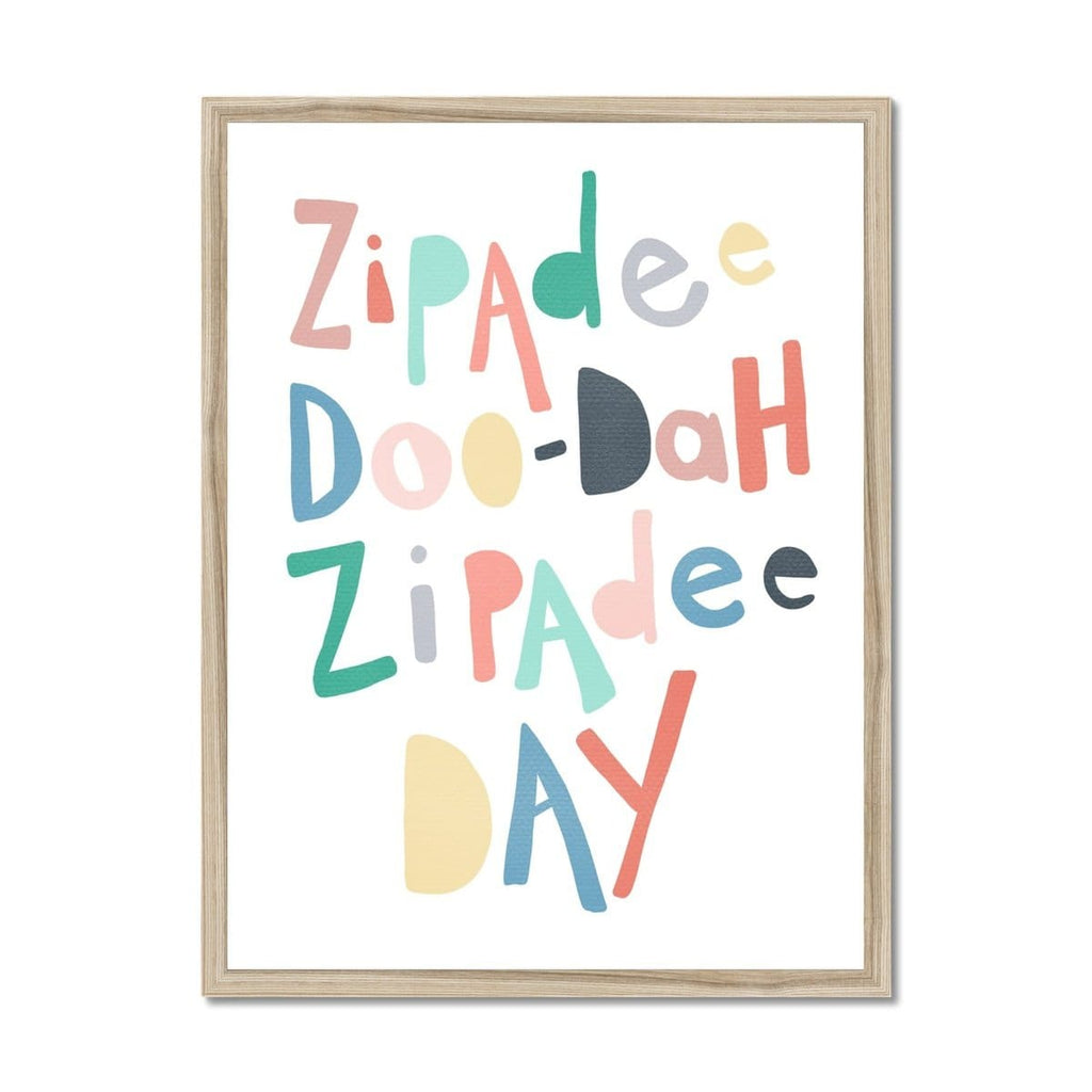 Zipadee Doo Dah - Rainbow Colours |  Framed Print