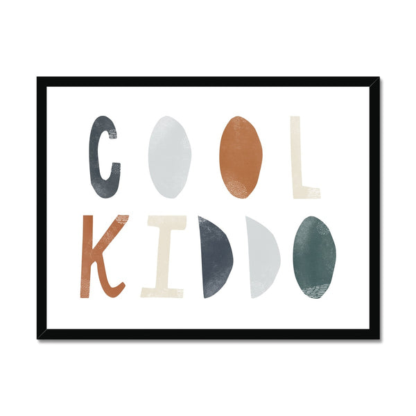 Cool Kiddo - Navy |  Framed Print