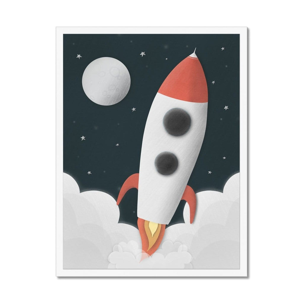 Rocket Space Decor |  Framed Print