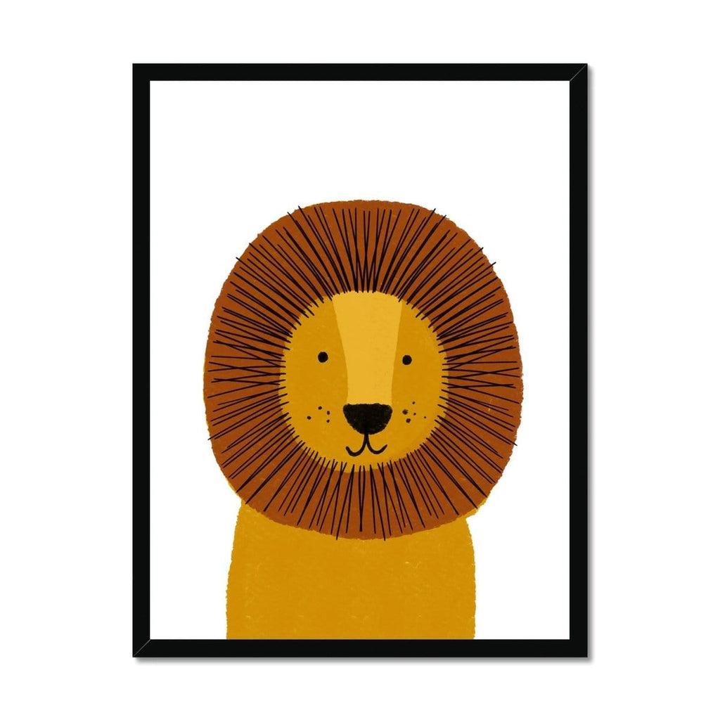 Lion - Kids Jungle Art |  Framed Print