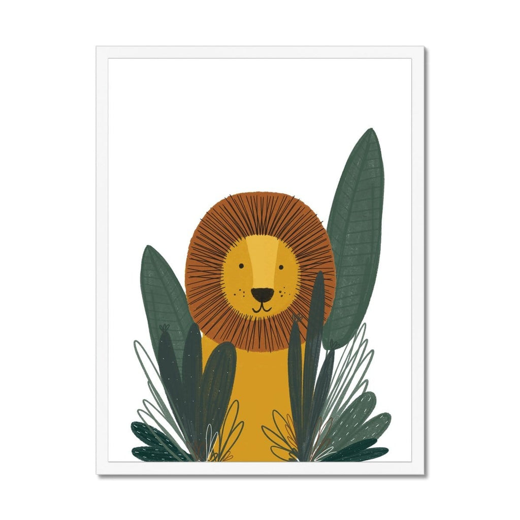 Mr Lion Animal Safari Art |  Framed Print