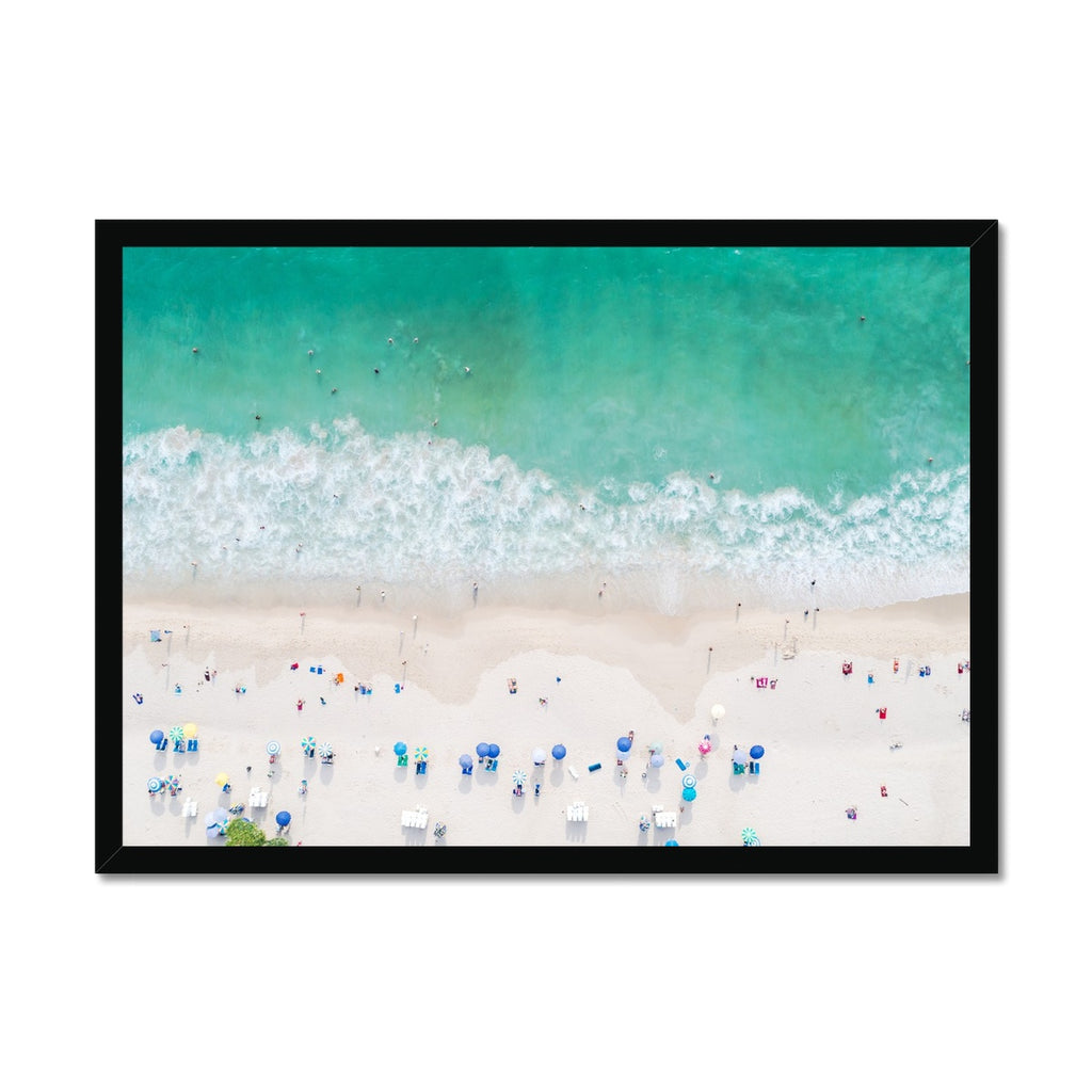 Aerial Beach Photography |  Framed Print