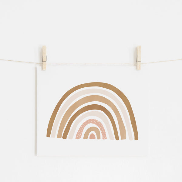 Scandi Rainbow - Burnt Umber |  Unframed