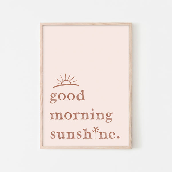 Good Morning Sunshine - Pink |  Framed Print