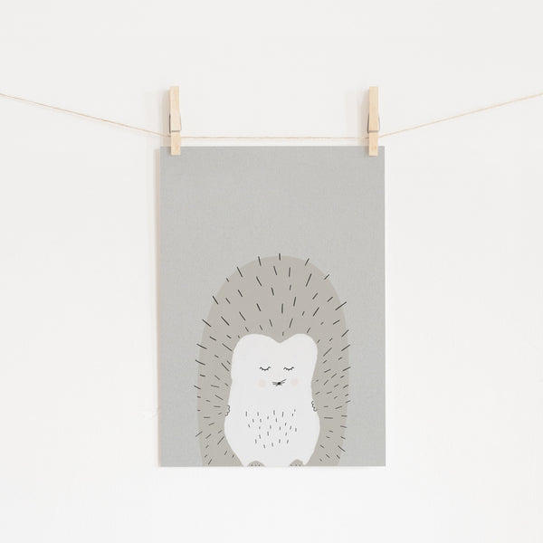 Sleepy Hedgehog |  Unframed