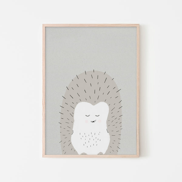 Sleepy Hedgehog |  Framed Print