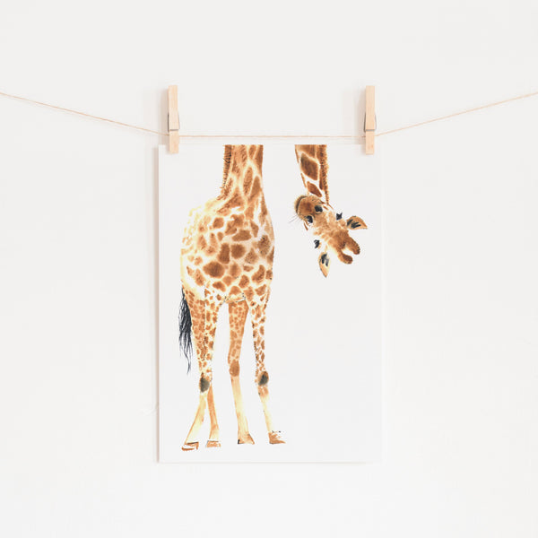 Hello Little One Giraffe - No Words |  Unframed