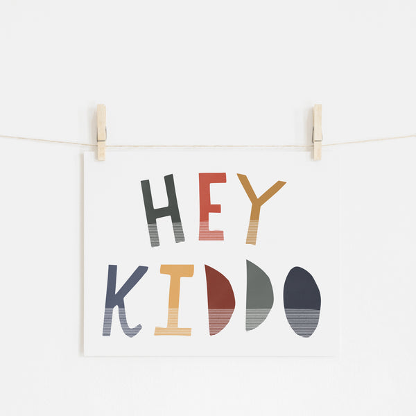 Hey Kiddo - Winter (Landscape) |  Unframed
