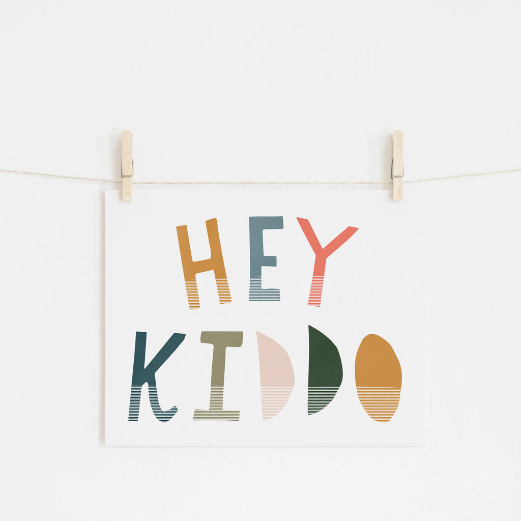 Hey Kiddo - Space (Landscape) |  Unframed