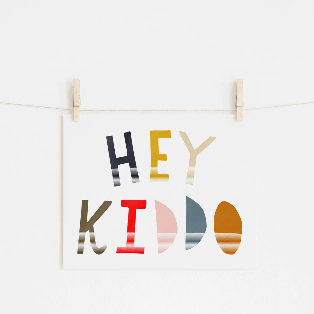 Hey Kiddo - Muted (Landscape) |  Unframed