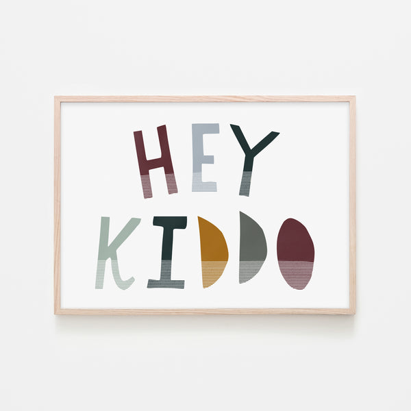 Hey Kiddo - Woodland (Landscape) |  Framed Print